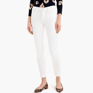 J. Crew Toothpick Ankle Jeans in White